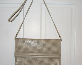 Vintage Whiting and Davis Taupe Mesh Purse