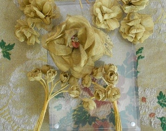Gold Metallic Flowers