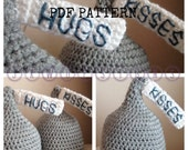 Choco Hugs and Kisses Hat Crochet PDF PATTERN