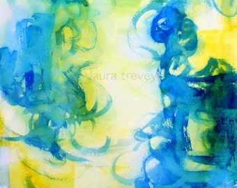 Secret Garden Watercolor Abstract