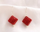 Red Cinnabar Earrings...