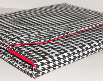 "iPad Standable Cover, Nook HD 9"", iPad 4, Houndstooth Crimson iPad 3 Case, Crimson Tide Alabama Football iPad Cover"