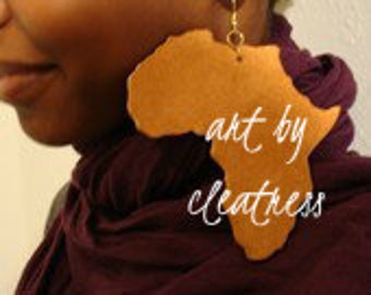 Copper Mother Africa Earrings