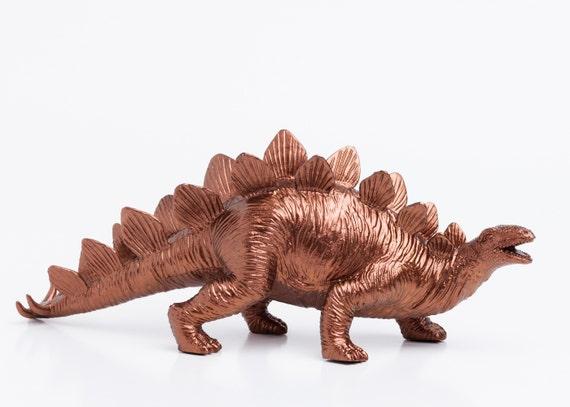Dinosaur, Re Purposed Toy, Room Decor, College Dorm Ornament, Dino Statue, Geekery Figurine