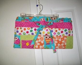 Pink Polka Dot Tool/Craft//Money Apron