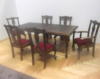 Miniature Dining Table and Chairs Set