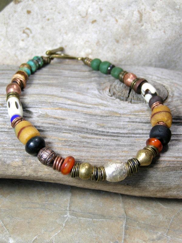 Mens Beaded Bracelet African Tribal Bracelet Mans Native