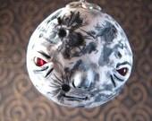 Polymer Clay Creepy Miniature Moon Ornament
