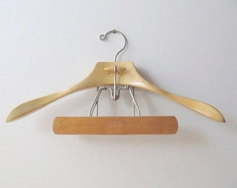 sears vintage wooden clothes hanger light maple hardwood hanger