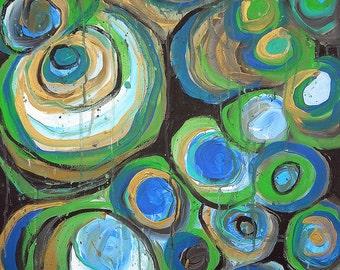 Microbe 10 original painting, art, acrylic painting