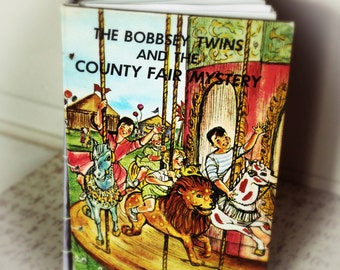 Bobbsey Twins vintage children's book cover hand-stitched journal (free shipping)