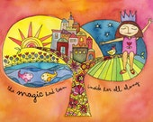 Magically Empowering Watercolor Print for Spectacular Girls