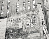 Decaying Bank Sign in Detroit Fine Art Photograph on Metallic Paper