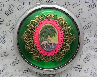 Flamingo Mirror Etsy