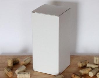 Gift box, wine glass gift box, crush proof gift box, Gloss white box, box for wine glass, 20oz wine glass box, tall gift box