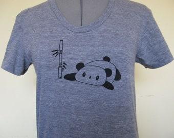 Panda Womens Shirt American Apparel Sizes Small through XLarge