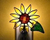 Sunflower Stained Glass Nightlight
