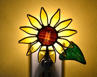 Sunflower Stained Glass Nightlight