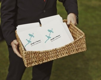 Printable Wedding Program - Instant Download Wedding Program - Wedding Program Template - PDF Wedding Program - Love Birds - 2 Birds Program