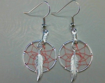 Choose Your Colors Custom Made Small Dream Catcher Earrings Native American