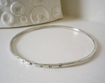 15% OFF! Sterling Silver Arm Bangle with Hallmarks including the Queen's Jubilee Mark