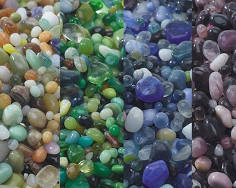 Brilliant colored glass Polished Pebbles for terrariums-Vivariums-Weddings-Blues-Purples-greens-oranges