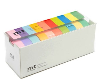 mt Washi Masking Tape - Set of 10 - Bright Colors