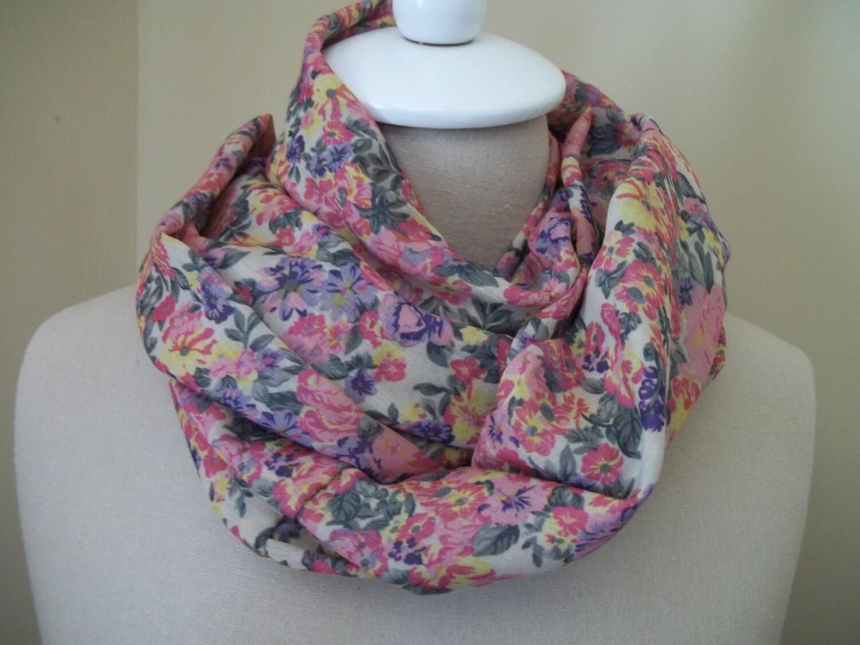 sale infinity scarf loop scar vintage floral
