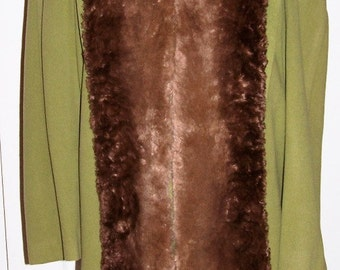 Vintage Women's Coat Hand Made By Brittany Size Medium to Large - A Custom Creation - ReDuCeD