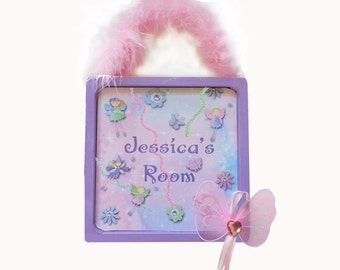 Personalized Door Wall Sign Little Girl Fairy Dust
