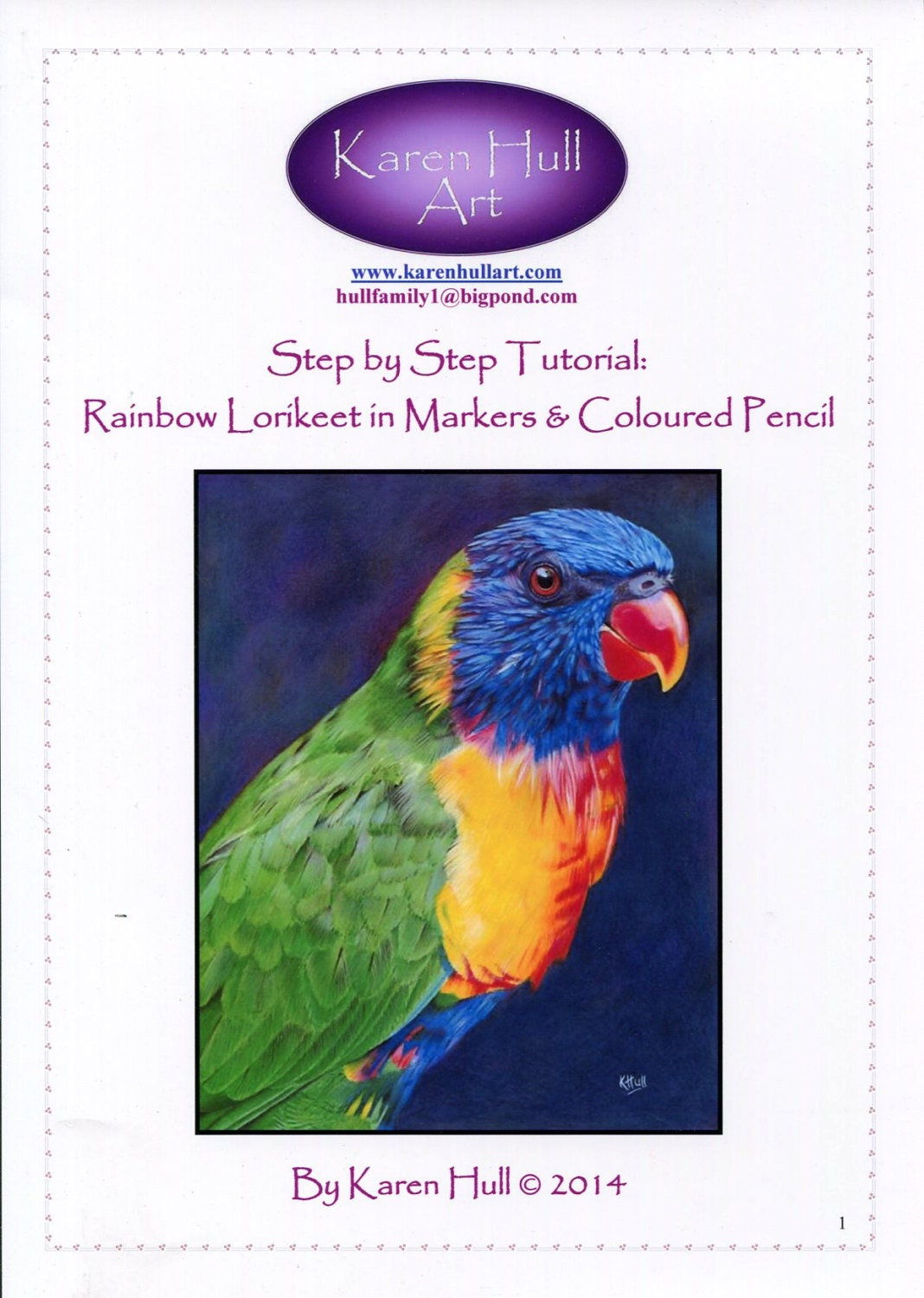 how to draw a rainbow lorikeet step by step