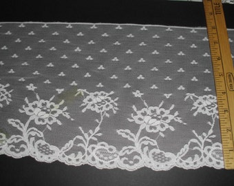 "8"" wide Cream lace trim 5 yds   (6099)"