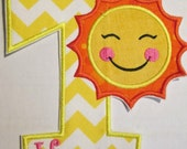 Iron On Applique -Summer Sun Birthday
