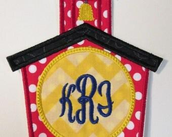 Iron On Applique - School House Monogram