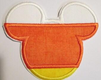 Halloween Iron On Applique - Candy Corn Mouse Head Boy or Girl