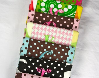 Personalized Initial Luggage Handle Wrap in Fun Fabrics ID Your Bag in Style Monogrammed Gifts & Accessories at Miss Priss and Co.