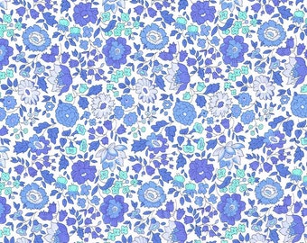 Liberty Fabric Danjo D Pale Blues Tana Lawn Fat Quarter