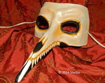 Bald Beast Mask Skull Day of the Dead Dia de los Muertos