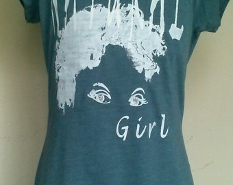 "Teen Gray with White ""Natural Girl"" T-Shirt and ""Natural and Beautiful"" T-Shirt"