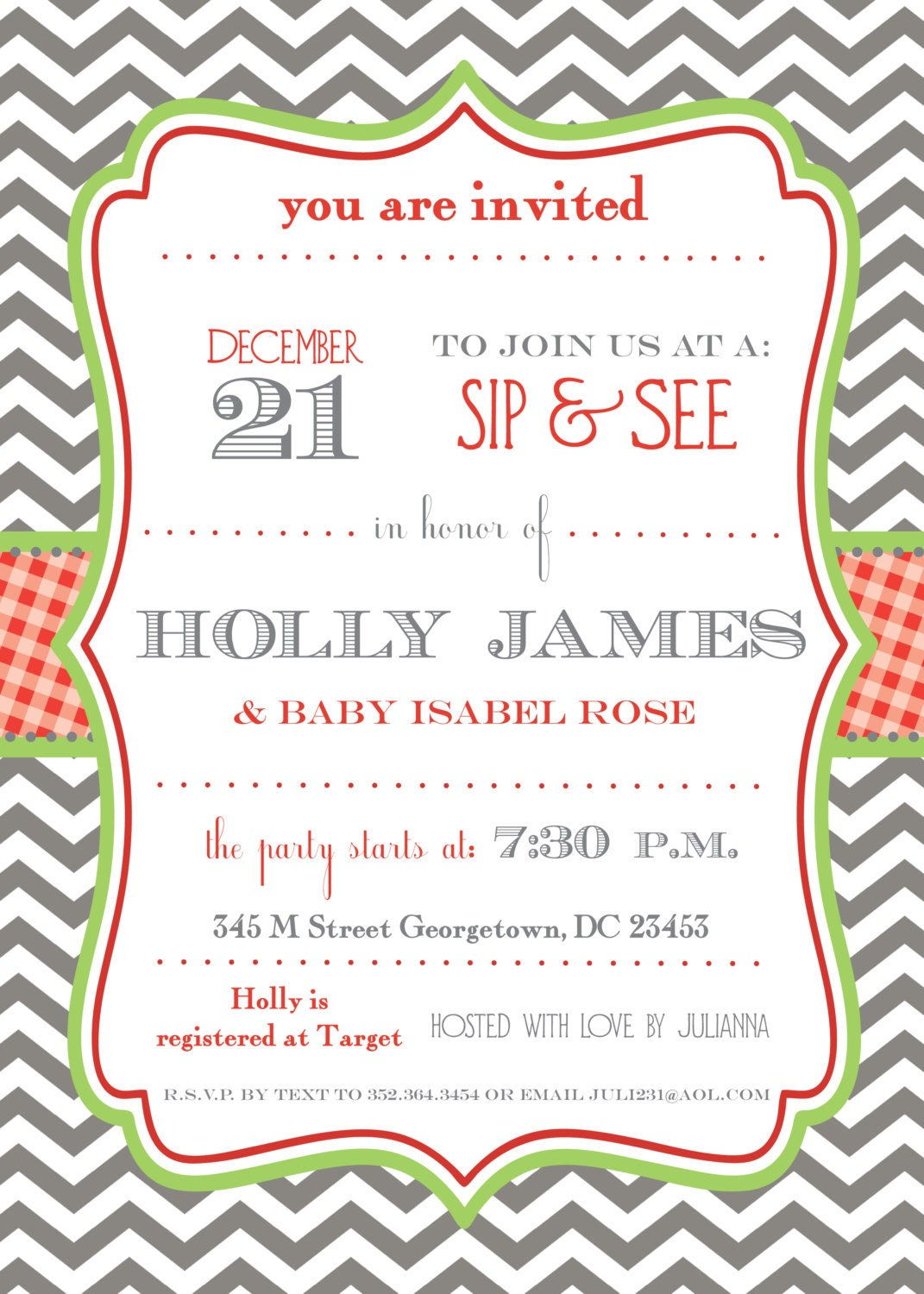 Holiday Christmas Party Invitation, Holiday Baby Shower, Christmas ...