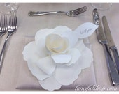 Beautiful Personalized Paper Flower Escort Card/Favor/Place Setting