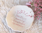 Personalized Bedside Bowl Trinket Dish