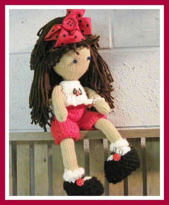 Amigurumi Doll Clothes Patterns : Lily Ann Doll and Clothes Amigurumi Pattern Knitted