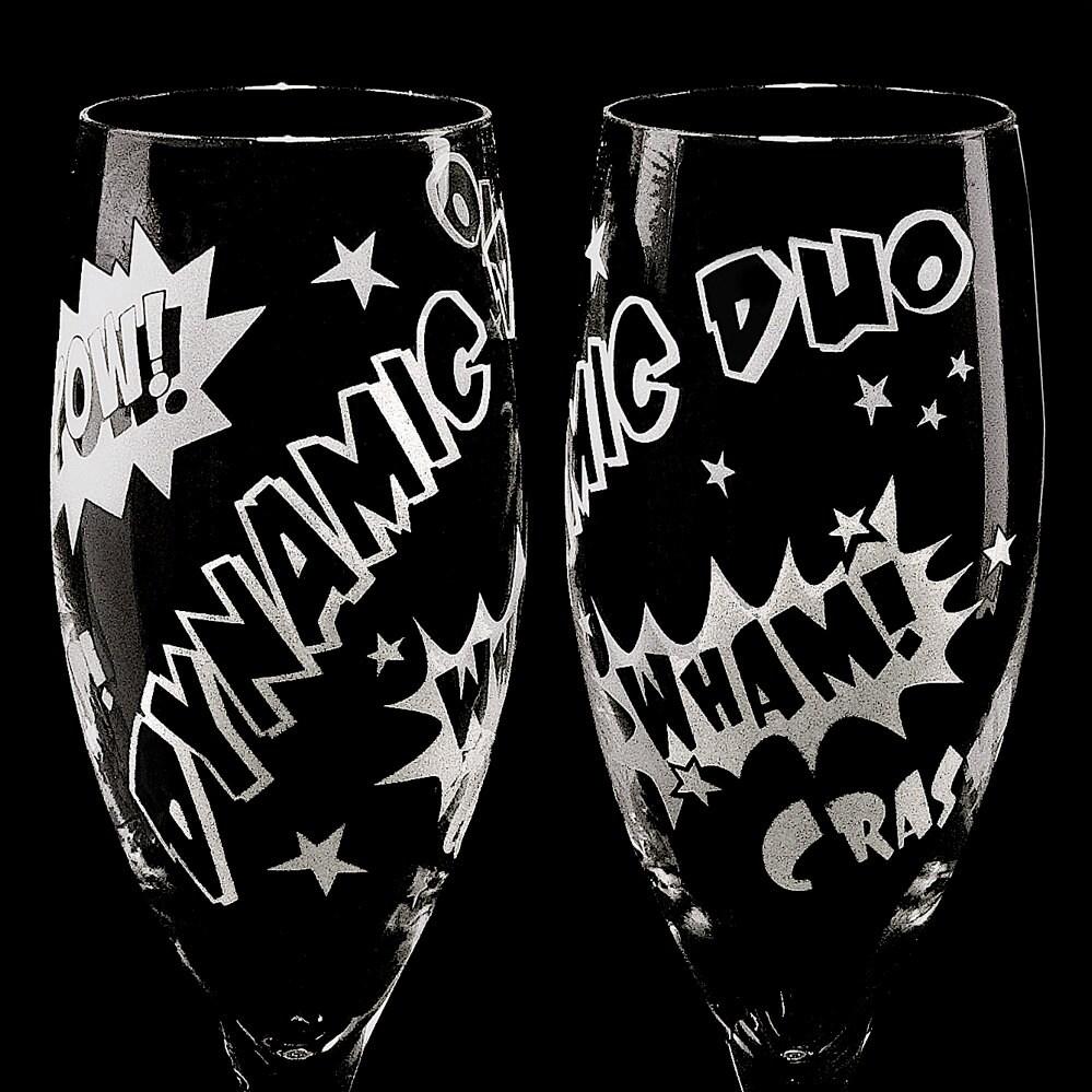 Personalisierte Hochzeit Champagne Flutes