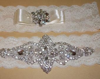 Sale-Rhinestone Garter,Rhinestone Garter,Bridal Garter,Garter,Wedding,,Lace Garter Set,Plus Size Garter,Bridal Accessories