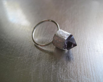Pale Amethyst Point and Sterling Silver Ring
