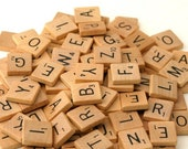 Scrabble Tiles, set of 5 - Your Choice of Letters
