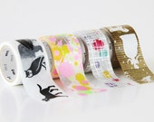 MINI MINI - 2014 Summer - mt fab washi tapes - silk screen patterns -  (3 metres)