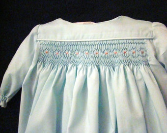 Infant (Preemie) Smocked Daygown