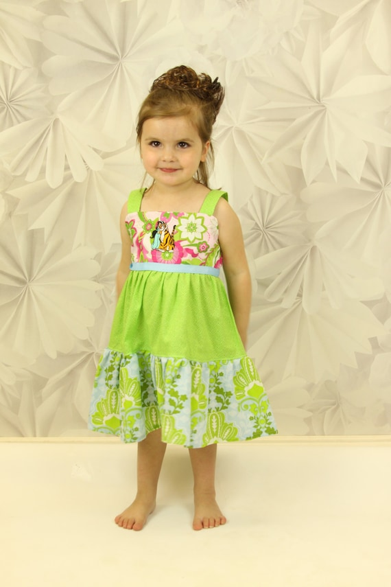 custom boutique sundress made with aladdin patch  2-6